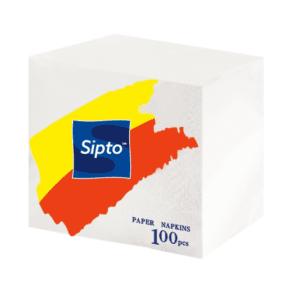 """Салфетки """"Sipto"""" (белые) 100 шт"""